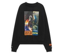 Bedrucktes Oversize Sweatshirt mit Mittelnaht