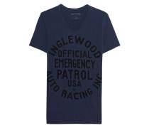 Baumwoll-T-Shirt mit Print  // Scoop Inglewood Navy