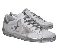 Canvas-Sneaker mit Metallic-Finish