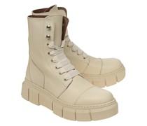 Leder-Combat-Boots