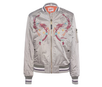 Bomber Embroidery Light Beige