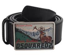 Gürtel aus Glattleder  // Deer Black