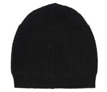 Gerippte Strick-Mütze  // Fine Knit Simple Black