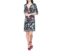 Florales Seiden-Stretch Kleid