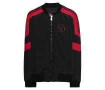 Sportliche Nylon-Bomberjacke  // Ocean Nylon Black/Red Sport