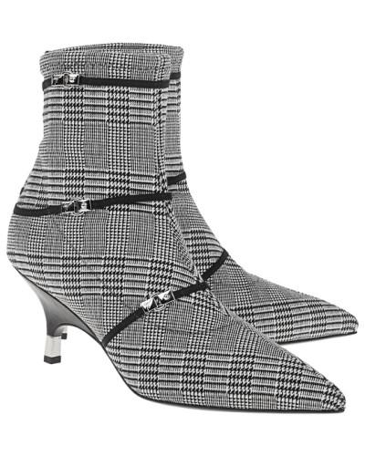Stiefelette im Hahnentritt-Design