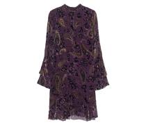 Seiden-Mix-Kleid mit Stehkragen  // Paisley Lilac Velvet