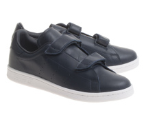 Flache Leder-Sneakers