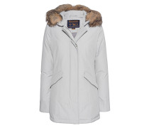 Daunen-Parka mit Fellbesatz  // Arcitc Parka Light Grey
