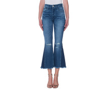 High-Rise Cropped Flare Jeans  // Ground Gusset Vasto