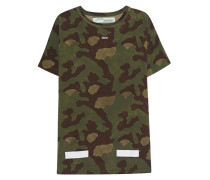 Bedrucktes Baumwoll-T-Shirt  // Allover Camo