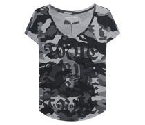 Baumwoll-T-Shirt mit Logoprint  // Scoop Camo Black