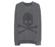 Bedruckter Baumwoll-Sweater  // Sweat Skull Black