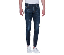 Destroyed Slim-Fit Jeans  // Sexy Twist Jean