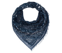 Tuch mit Paisley Print  // Light Pashmina Small Pattern Blue