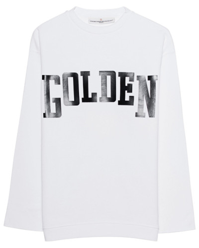 Sweatshirt mit Logo-Print  // Raw Cut White Black