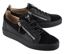 Flache Leder-Sneakers  // May London Uomo Sensory Low Black