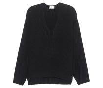 Grobstrick-Pullover aus Wolle  // Deborah Wool Black