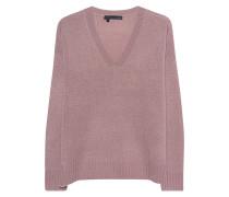 Kaschmir-Pullover mit V-Ausschnitt  // Violett Rose