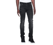 Slim-fit Jeans im Washed-Out-Look