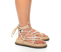 Leder-Sandalen mit Binde-Detail