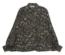 Gemusterte Oversize-Bluse mit Fledermausärmeln