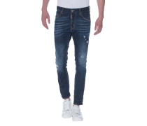 Slim-Fit Jeans im Farb-Finish  // Skater Jean Blue