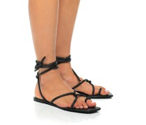 Leder-Sandalen mit Schnürung