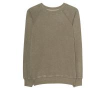 Sweatshirt aus Baumwoll-Mix  // Fang Khaki