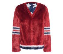 Kunstfell-Jacke  // Boxy Fur Red
