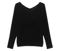 Kaschmir-Pullover mit V-Ausschnitt