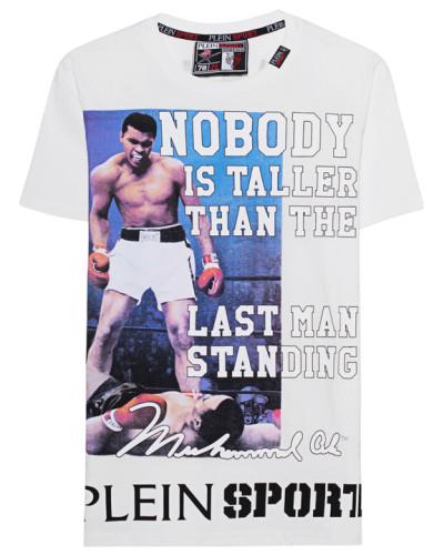 Baumwoll-T-Shirt mit Print  // Nobody White