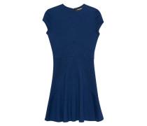 Feinstrick-Mini-Kleid aus Woll-Gemisch  // Skinny Blue