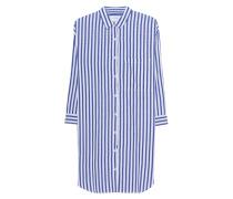 Gestreiftes Hemdblusenkleid  // Ivy Blue/White