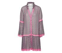 Gemustertes Kleid mit Rüschen-Details