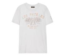 Baumwoll T-Shirt mit Print  // Garage Creme