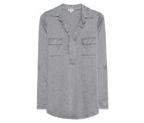 Longsleeve-Top mit Lurex-Fäden  // Drapey Lux Pocket Silver