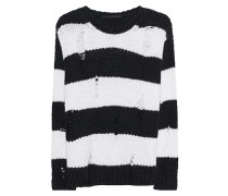 Alpaka-Woll-Pullover im Destroyed-Look  // Boxy Destroyed Black