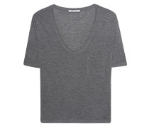 Meliertes T-Shirt  // Tee Classic Cropped Grey