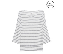 Fleece Stripe Sweater Grey Melange