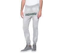 Baumwoll-Sweatpants mit Label-Print  // Label Grey