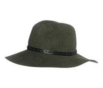 Fedora-Hut aus Wollfilz  // Wide Brim Green Multi
