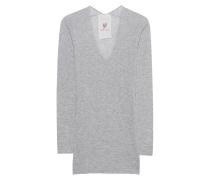 Kaschmir-Mix-Pullover  // Richmond Shirt Exposed Light Grey Melange