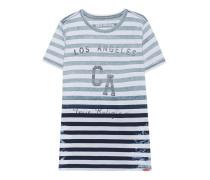 Gestreiftes Jersey-T-Shirt  // Crew Indigo Stripe