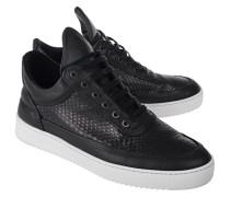 Low-Top Python-Ledersneaker  // Low Top Ripple Python Black