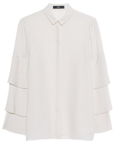 Bluse mit plissierten Volants