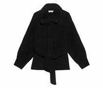 Woll-Jacke mit Bindegürtel