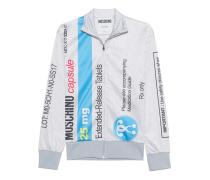 Zipper-Jacke mit Print  // Capsule Tablets Light Grey