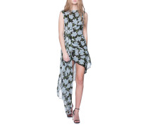 Seiden-Kleid mit floralem Print