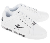Kunstleder-Low-Top-Sneakers  // Julian Low Top White